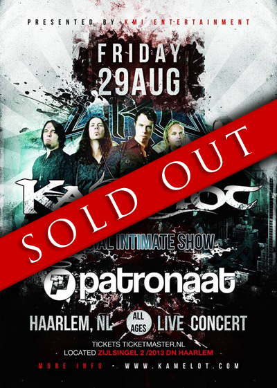 Kamelot in Haarlem - SOLD OUT!