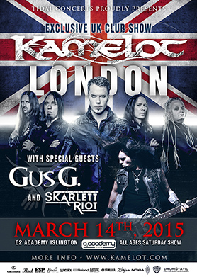 Kamelot in London - March 2015