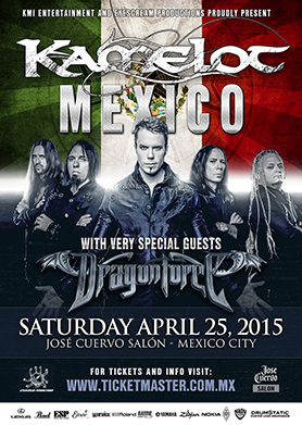 Kamelot in Mexico - April 2015